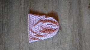 handmade Berretto grigio chiaro-rosa antico