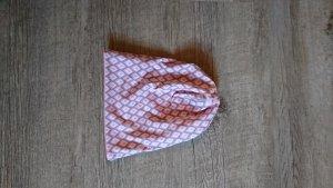 handmade Beanie light grey-dusky pink