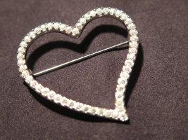 Wertig aussehende Brosche Herz-Design