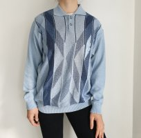 Westbury L blau Oversize Pullover Hoodie Pulli Sweater Top strickjacke Cardigan hemd bluse jacke Muster True Vintage