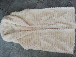Veste à franges blanc-blanc cassé polyester