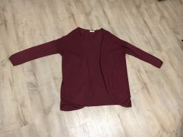 AJC Gilet long tricoté bordeau