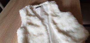Colours Kamizelka ze sztucznym futrem biały