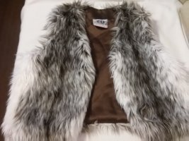 Fringed Vest silver-colored-white