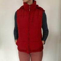 H&M Smanicato con cappuccio rosso mattone Poliestere