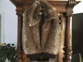 AWG Mode Fake Fur Vest multicolored