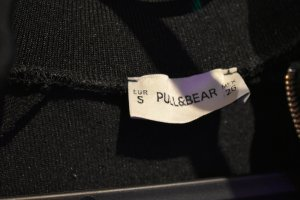 Pull & Bear Giacca college bianco-nero Poliestere