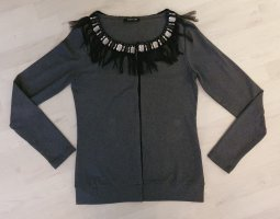 Margittes Smanicato lavorato a maglia nero-grigio