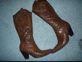 Graceland Botas estilo vaquero coñac Imitación de cuero