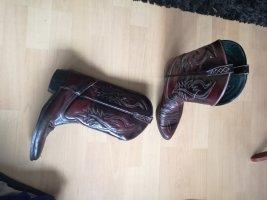 Western Boots bordeaux
