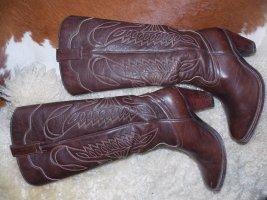Sendra Buty w stylu western ciemnobrązowy Skóra