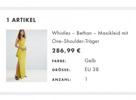Whistles Maxikleid gelb