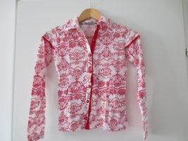 Who's that girl, langarm Shirt rot-weiß, Gr. 34/XS, extrem süß, nur 2xgetr.