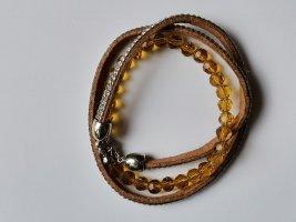 Bracelet brun-orange clair