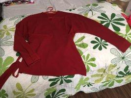Kiomi Kopertowa bluzka głęboka czerwień