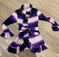 Knitted Wrap Cardigan multicolored wool