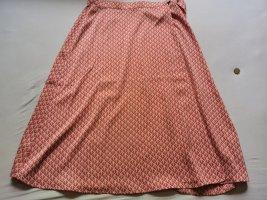 H&M Kopertowa spódnica jasnobeżowy-czerwony neonowy Poliester