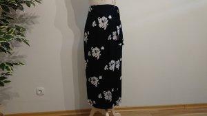 Kopertowa spódnica biały-niebieski Wiskoza