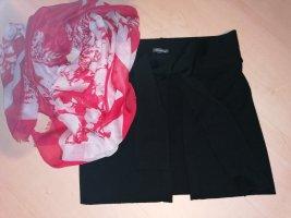 Street One Falda cruzada negro-rojo