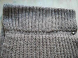Tube Scarf light brown wool