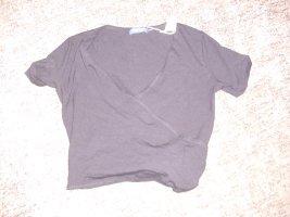 Schuhmacher Wraparound Shirt black viscose