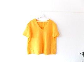 wie neu American Vintage Bluse Gr. M 40 gelb Shirt 100% Leinen