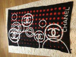 Chanel Écharpe en soie multicolore coton