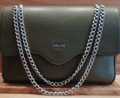 Wie NEU Handtasche Schultertasche LAUREL Echt Leder Olivgrün