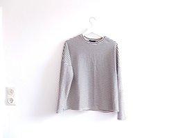 wie neu New Look oversized Streifenshirt Gr. 40 M L schwarz beige gestreift