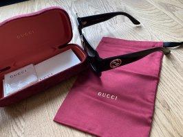 Gucci Gafas de sol cuadradas negro-color oro