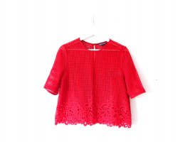 wie neu Tommy Hilfiger Bluse Gr. 40 US10 rot Spitze lace T-Shirt