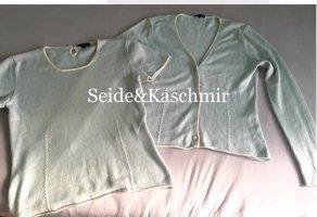 Wie neu: TwinSet /Twin-Set Vogue, Kaschmir Seide Cardigan Shirt
