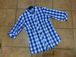 Wild & Wald Traditional Blouse white-blue cotton