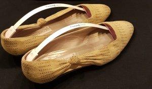 Wildleder Ballerina von Gianni Versace in gelb Größe 40