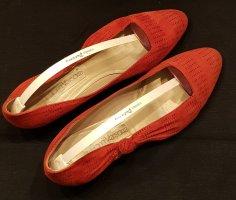 Wildleder Ballerina von Gianni Versace in rot Größe 40