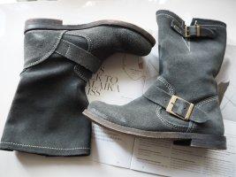 -Boots grau/ Suede Gr. 37