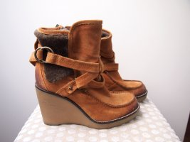 Alberto Fermani Wedge Booties multicolored suede