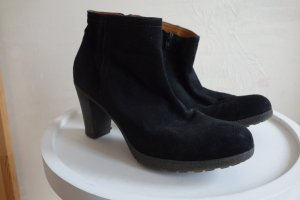 Booties black leather