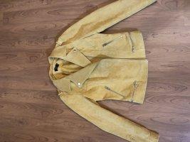 Only Biker Jacket yellow-gold orange suede