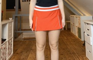 Wilson Stretch rok wit-rood
