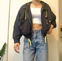 Zara Giacca con cappuccio blu scuro-giallo