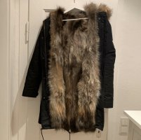 Lea Fashion Fur Jacket black-brown