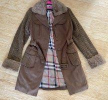 Burberry Abrigo de invierno marrón claro lana de angora