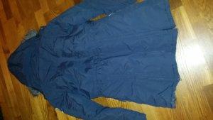 Długa kurtka niebieski-jasnobeżowy Nylon