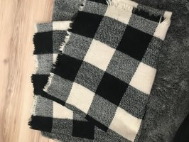 Sjaal van kasjmier zwart-wit