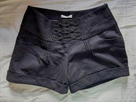 Winter Shorts in schwarz