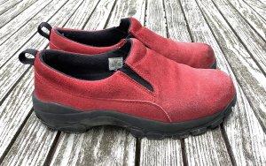 Lands' End Zapatos sin cordones rojo Cuero