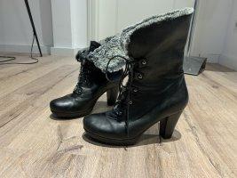 Buty zimowe czarny-szary