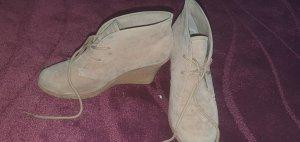 Modequeen Wedge Booties grey brown-beige