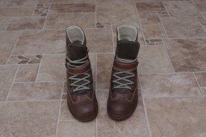 Gabor Bottes de neige gris brun-marron clair cuir